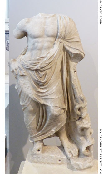 Marble statue of Asklepios from ancient Morrylos, Macedonia at My Favourite Planet