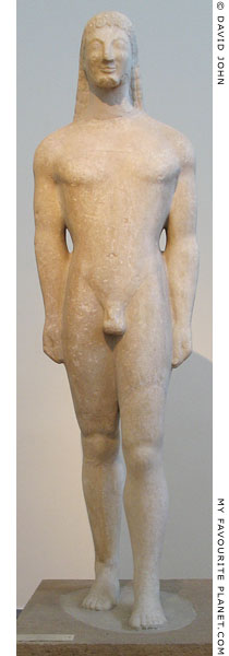 A partly restored marble kouros statue from Athens at My Favourite Planet
