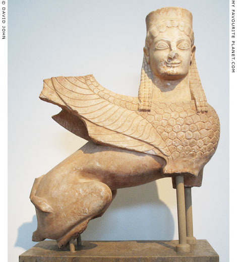 One of the earliest known Archaic statues of a sphinx at My Favourite Planet