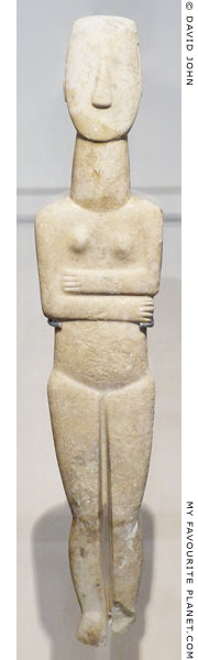 A Cycladic marble female figurine at My Favourite Planet