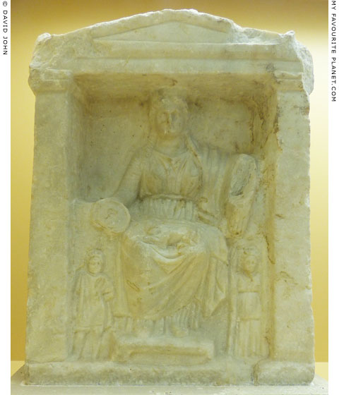 Relief of enthroned Kybele, Agora Museum, Athens at My Favourite Planet