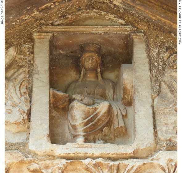 Relief of enthroned Kybele on the Byzantine Little Metropolis, Athens at My Favourite Planet