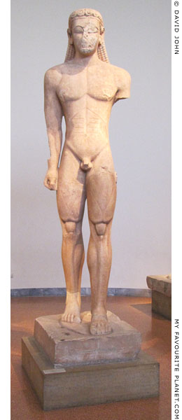 A larger-than lifesize kouros statue from Sounion at My Favourite Planet