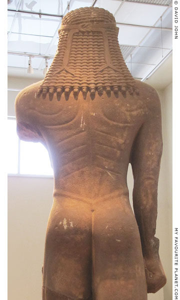 The rear of the kouros statue from Sounion at My Favourite Planet