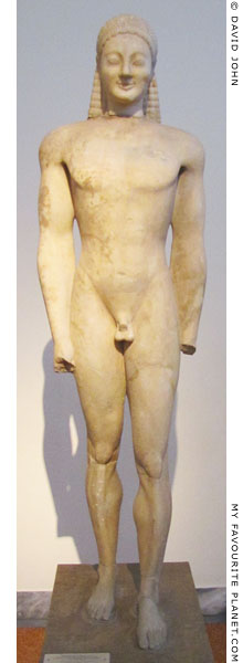 A kouros statue from Volomandra, Attica at My Favourite Planet