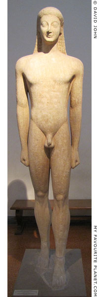 A kouros statue from Melos, Greece at My Favourite Planet