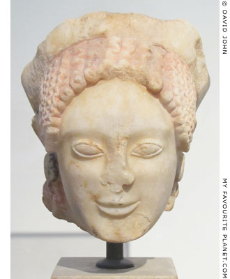 An Archaic marble head of a kore from Eleusis at My Favourite Planet