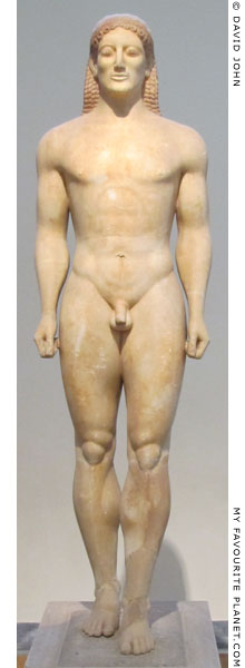 The kouros statue from the grave of Kroisos at My Favourite Planet