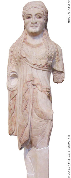 A marble kore statuette from the Athens Acropolis at My Favourite Planet