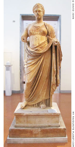 A marble statue of Themis by Chairestratos at My Favourite Planet