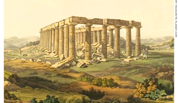 The Temple of Apollo Epikourios at Bassai by Edward Dodwell at My Favourite Planet