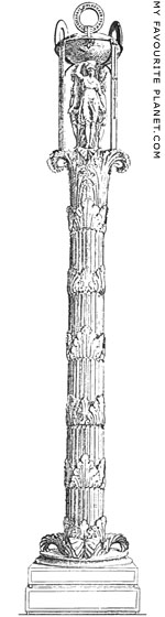 >A reconstruction drawing of the Column of the Dancers, Delphi at My Favourite Planet