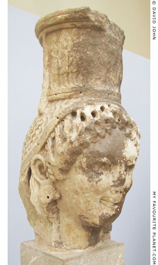 The marble head of an Archaic caryatid from Delphi at My Favourite Planet