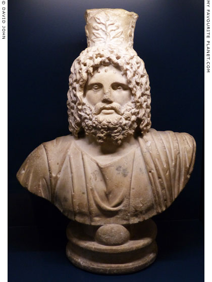Marble bust of Serapis in Hamburg at My Favourite Planet