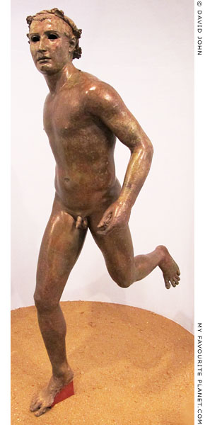 A Hellenistic bronze statue of a running athlete at My Favourite Planet