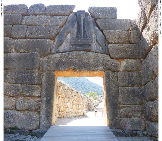 The Lion Gate, the main entrance to the citadel of Mycenae, Greece at My Favourite Planet