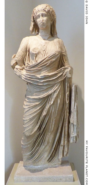 Marble portrait statue of Agrippina Minor by Dionysos the Athenian, son of Apollonios at My Favourite Planet