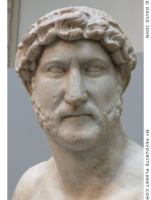 Marble portrait bust of Emperor Hadrian at My Favourite Planet