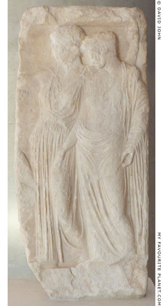 Marble relief of Demeter and Persephone from the Acropolis, Athens at My Favourite Planet