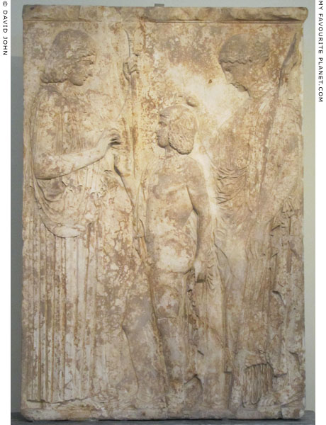The Great Eleusinian Relief of Demeter, Persephone and Triptolemos, from Eleusis at My Favourite Planet