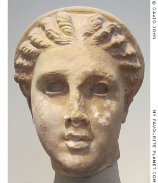 Head of Artemis from the Lykosoura statue group at My Favourite Planet