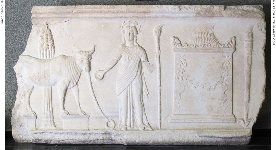 Demeter relief from the Demeter terrace of the Pergamon acropolis at My Favourite Planet
