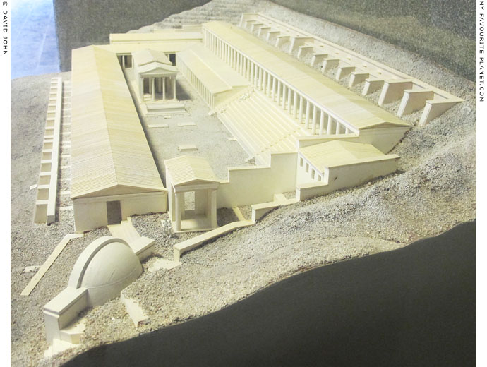 Model of the sanctuary of Demeter on the Pergamon acropolis at My Favourite Planet
