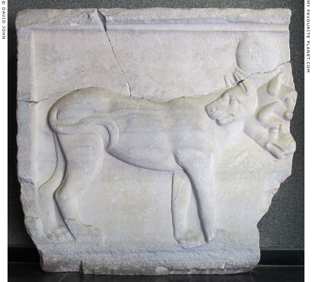 Marble relief of Cerberus from Pergamon at My Favourite Planet