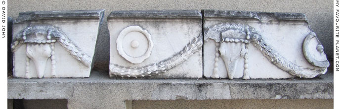 Section of the marble architrave from the temple of Demeter, Pergamon at My Favourite Planet