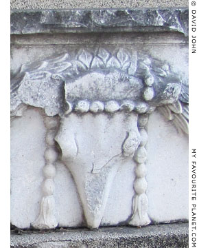 A boukranion on the architrave from the temple of Demeter, Pergamon at My Favourite Planet