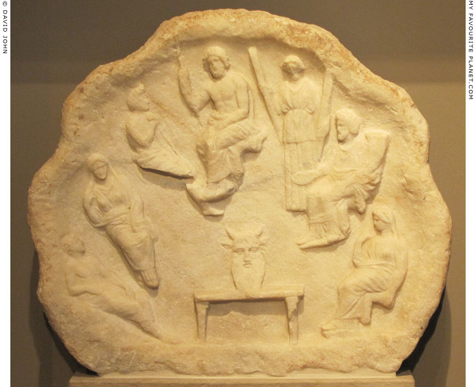 Votive relief with Acheloos, Zeus and a gathering of the gods at My Favourite Planet