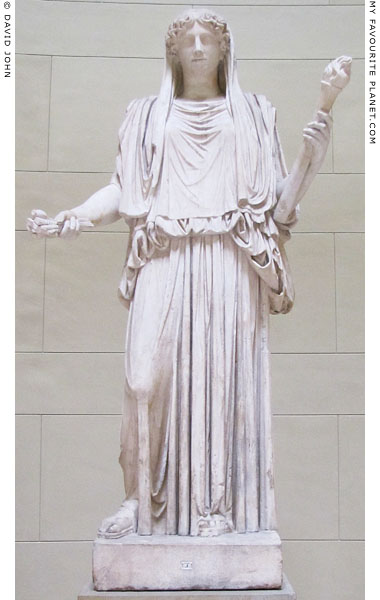The restored Demeter Cherchel statue, Altes Museum, Berlin at My Favourite Planet