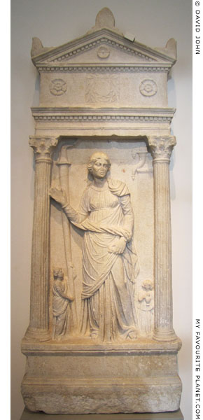 Relief of a woman, perhaps a priestess of Demeter, from Smyrna at My Favourite Planet