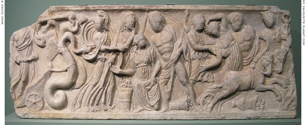 A relief depicting the abduction of Proserpina by Pluto at My Favourite Planet