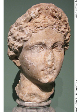 Marble head of Livia as Ceres at My Favourite Planet