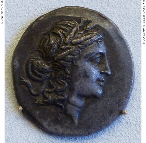 A tetradrachm coin of Syros with the head of Demeter at My Favourite Planet
