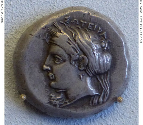A tetradrachm of Kyzikos with the head of Demeter at My Favourite Planet