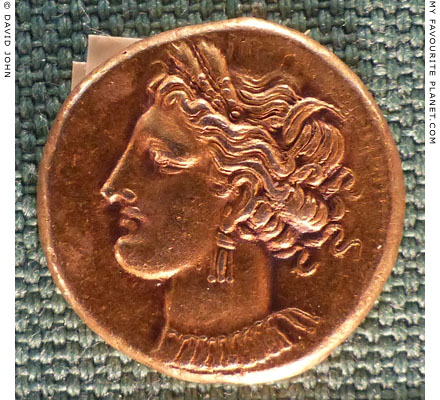 Carthaginian stater with the head of Tanit-Persephone at My Favourite Planet
