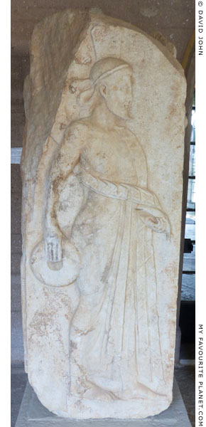 An Archaistic relief of Zeus Chthonios from Corinth at My Favourite Planet