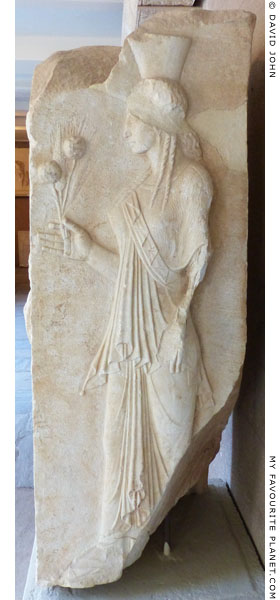 An Archaistic relief of Demeter from Corinth at My Favourite Planet