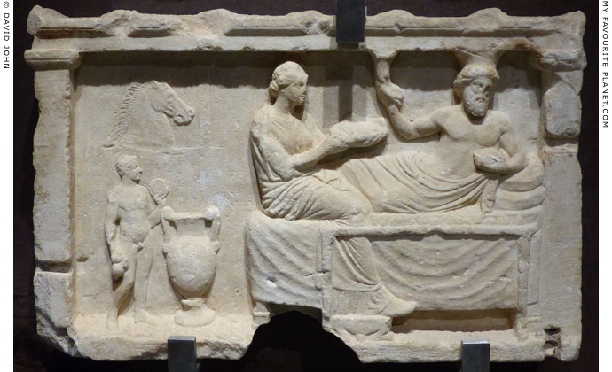 Votive relief, Corinth Archaeological Museum at My Favourite Planet