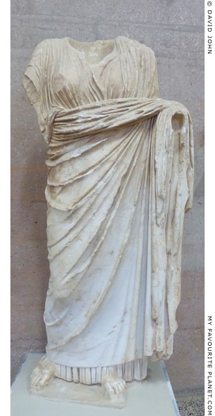 Over-lifesize marble statue of Demeter from Corinth at My Favourite Planet