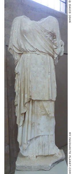 Over-lifesize marble statue of Persephone from Corinth at My Favourite Planet