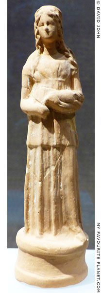 Terracotta figurine from the Sanctuary of Demeter and Kore, Corinth at My Favourite Planet