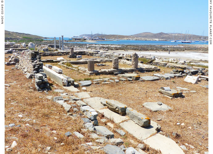 The so-called Thesmophorion or Temple of Demeter in Delos, Greece at My Favourite Planet