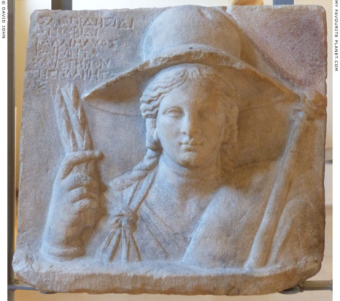 Relief of Demeter from the sanctuary of Isis, Dion, Macedonia, Greece at My Favourite Planet