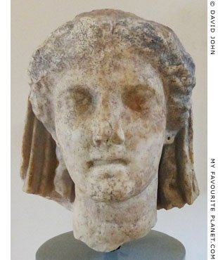 Head of Demeter from the sanctuary of Demeter, Dion, Macedonia, Greece at My Favourite Planet