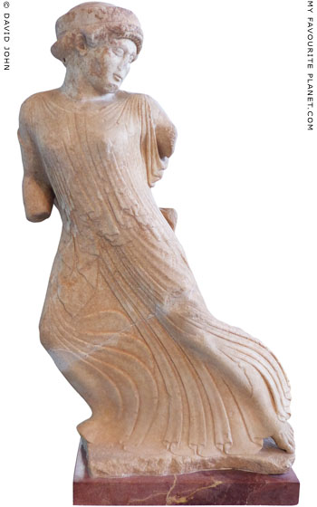 Statue of a fleeing maiden from Eleusis at My Favourite Planet