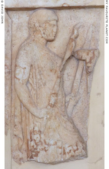 Votive relief depicting Persephone holding torches at My Favourite Planet