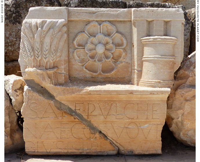 Part of the entablature of the Lesser Propylaia in Eleusis, Greece at My Favourite Planet